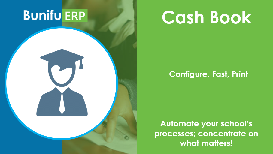 Bunifu ERP for schools and colleges Cash Book