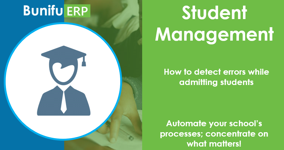Bunifu ERP how to detect errors while admitting students