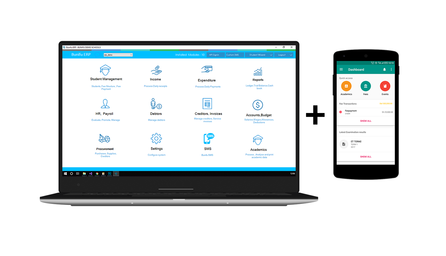 Home | Bunifu ERP | An automation software for Schools